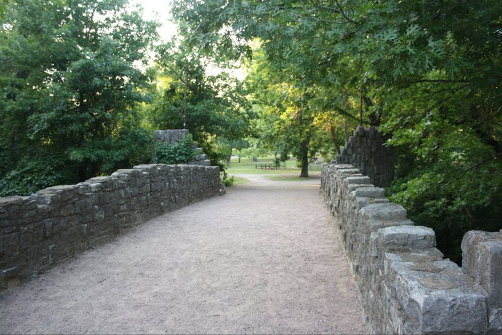 The Travertine Creek Trail in Chickasaw National Recreation Area.