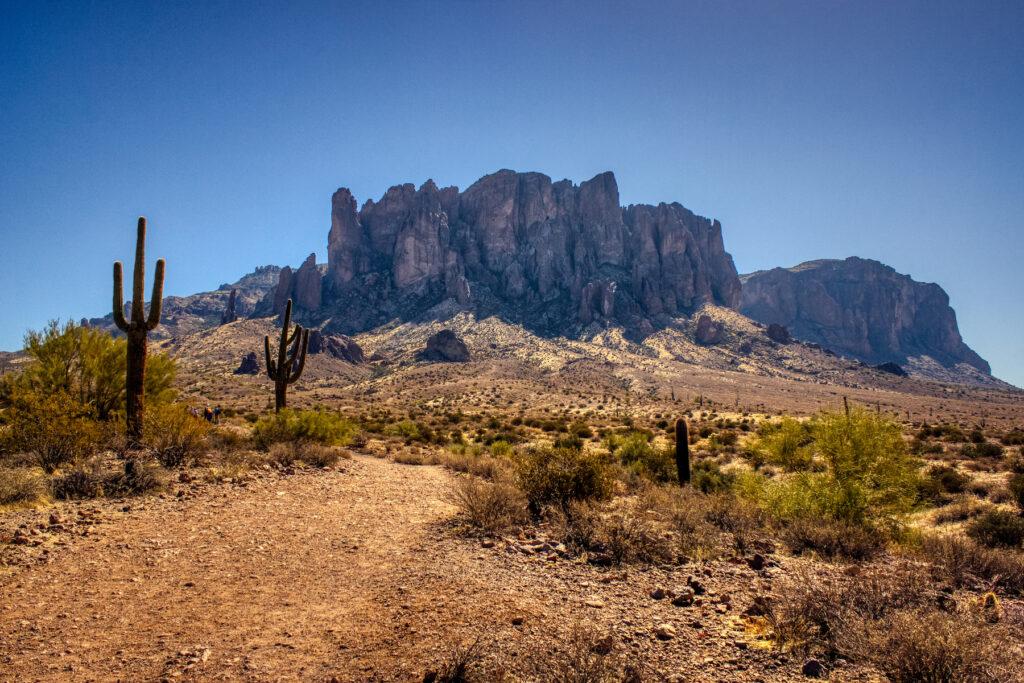 The Treasure Loop Trail in Arizona.