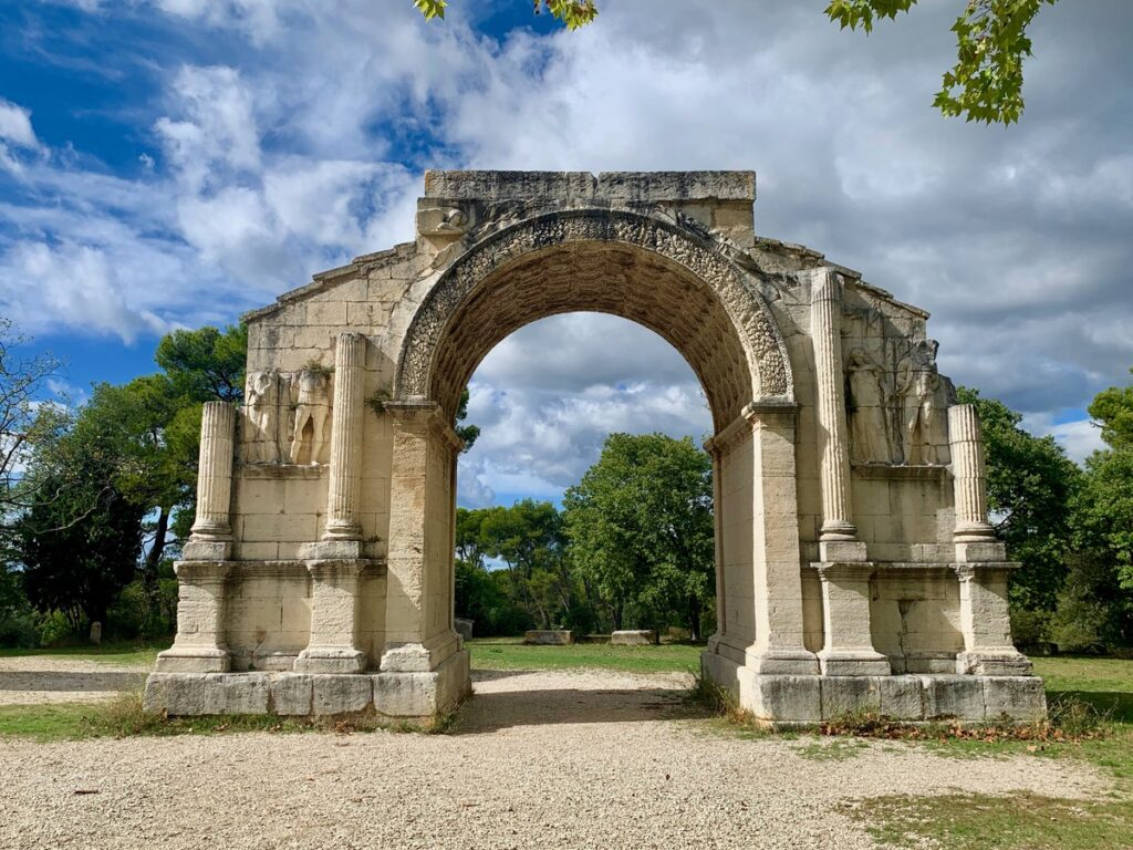 The triumphal arch of Glanum in France.