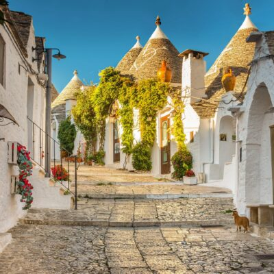 The Trulli of Alberobello in Puglia, Italy.