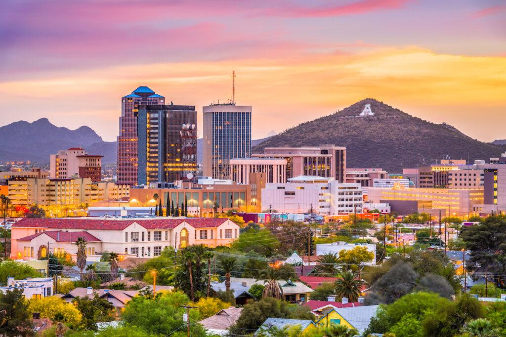 The Tucson, Arizona, skyline.