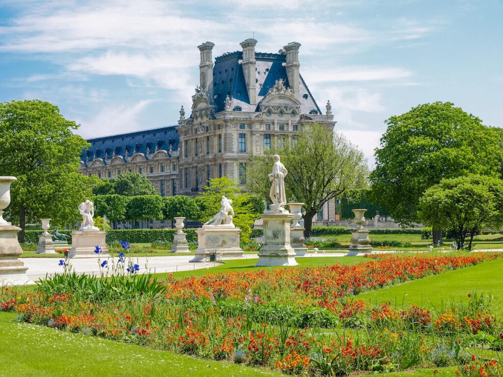 The Tuilerie Gardens in Paris, France.
