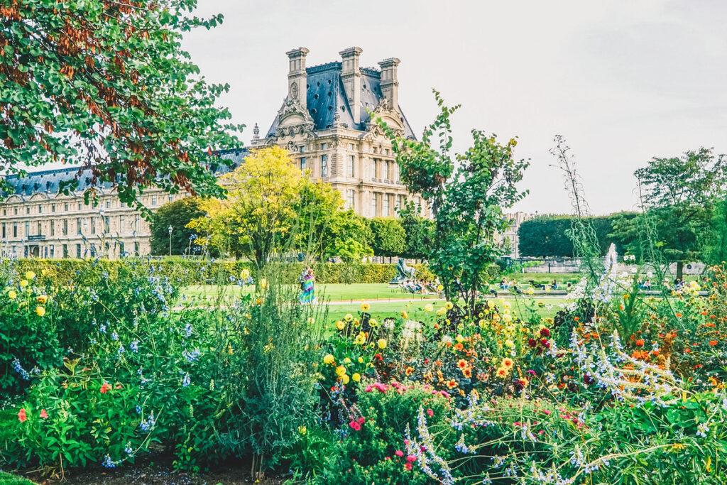 The Tuileries Garden in Paris, France.