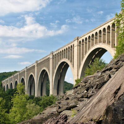 The Tunkhannock Viaduct in Nicholson, Pennsylvania.