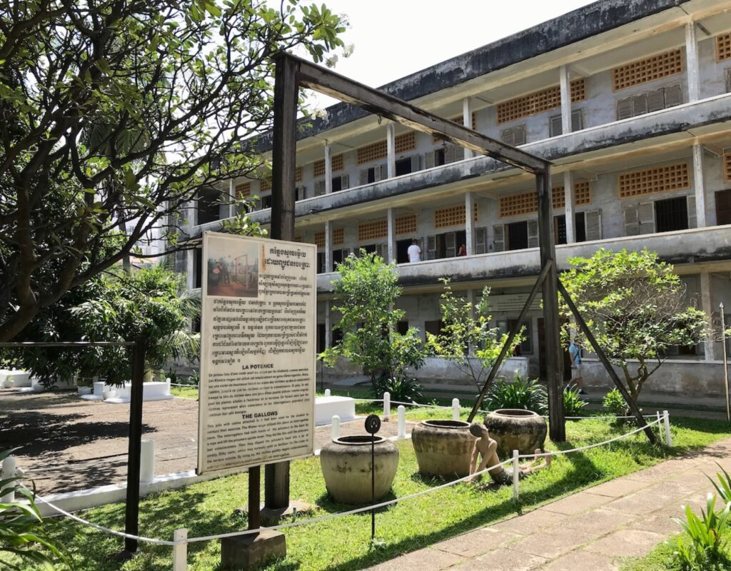 The Tuol Sleng Genocide Museum.