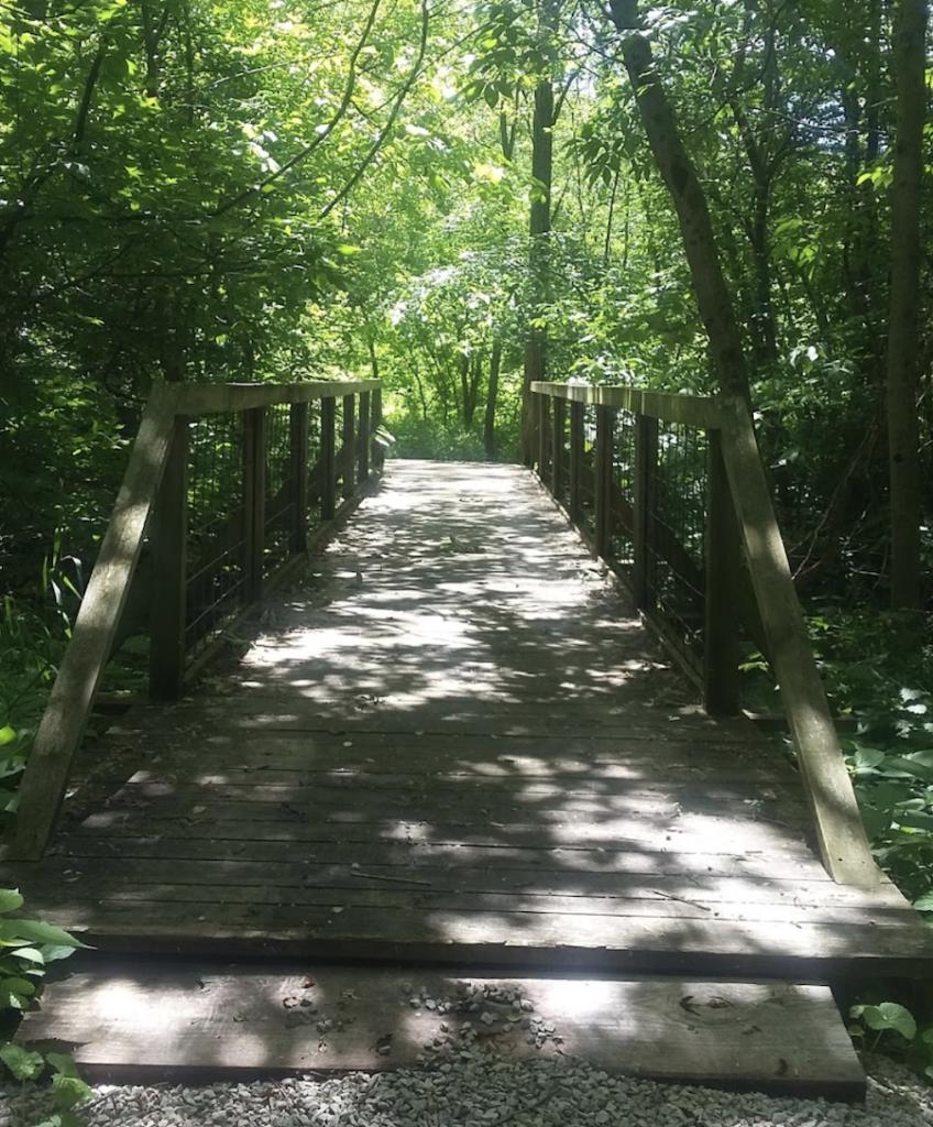 The Twin Bridges Loop Trail in Danville, Indiana.
