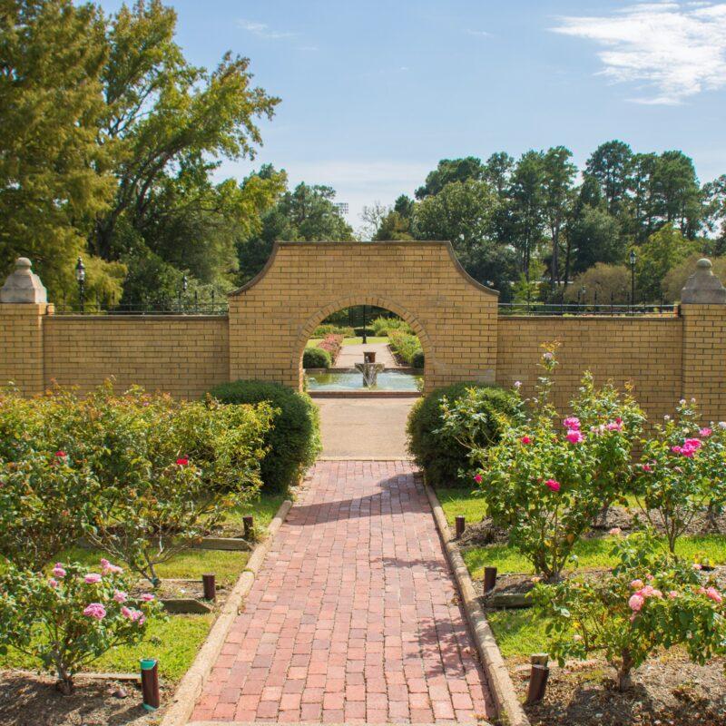 The Tyler Municipal Rose Garden in Texas.