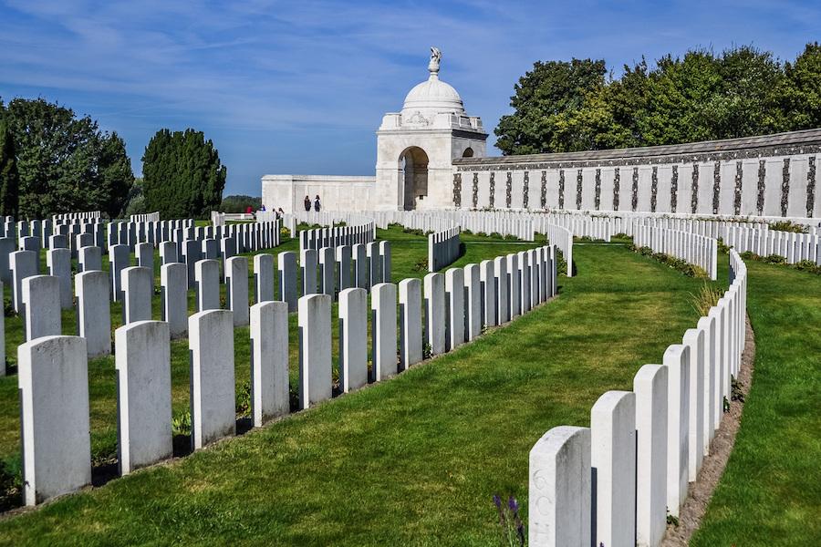 The Tyne Cot Cemetery in Belgium.