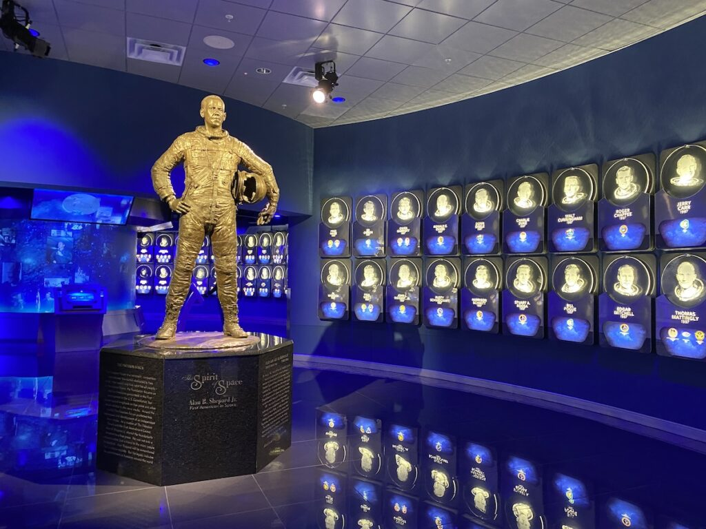 The U.S. Astronaut Hall of Fame at Kennedy Space Center.
