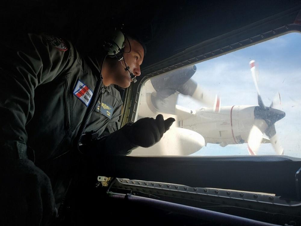 The U.S. Coast Guard sent out a C-130 Hercules rescue plane.
