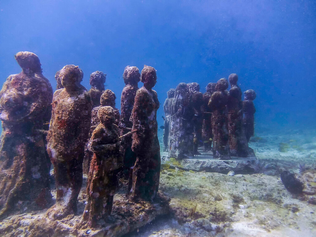 The Underwater Museum off the coast of Isla Mujeres.