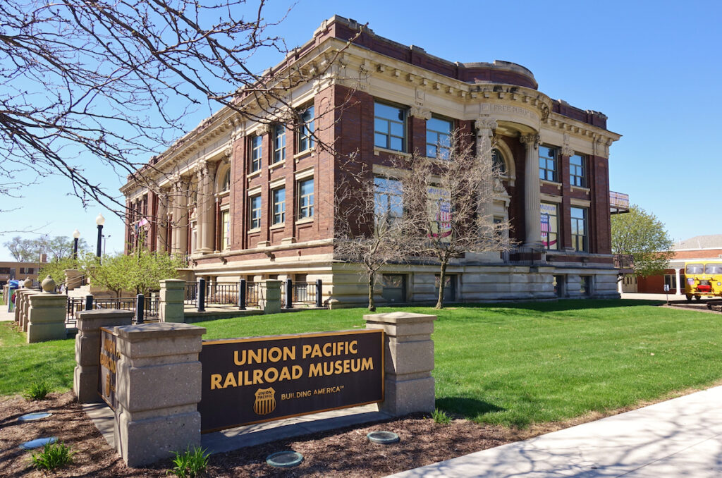 The Union Pacific Railroad Museum in Council Bluffs.