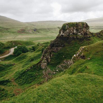 The unique landscape of Uig, Scotland.