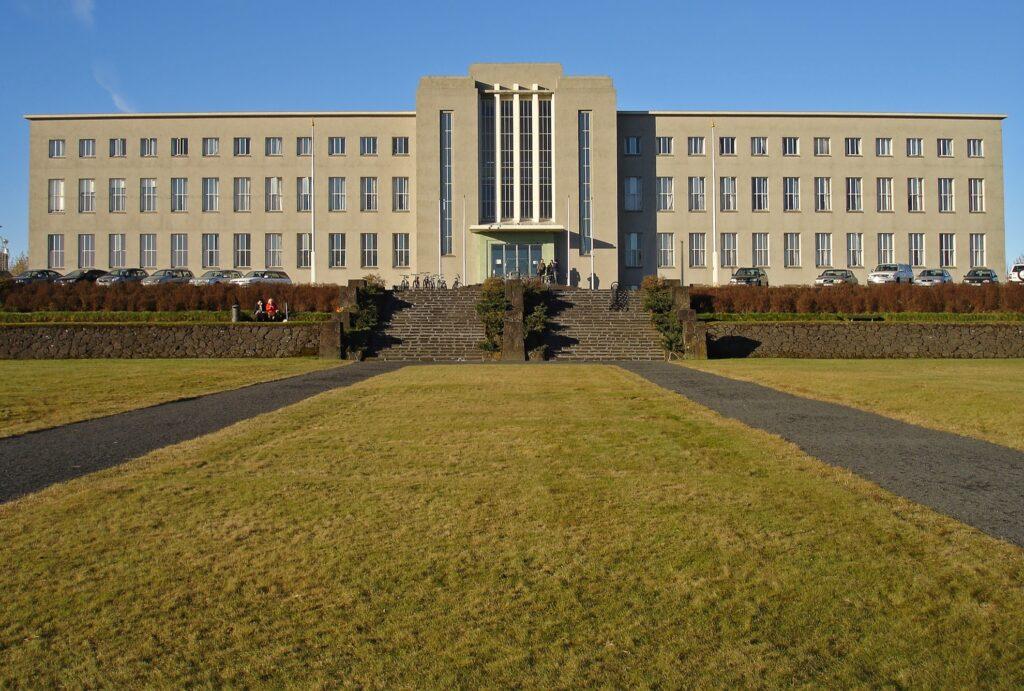 The University of Iceland Main Building in Reykjavik.