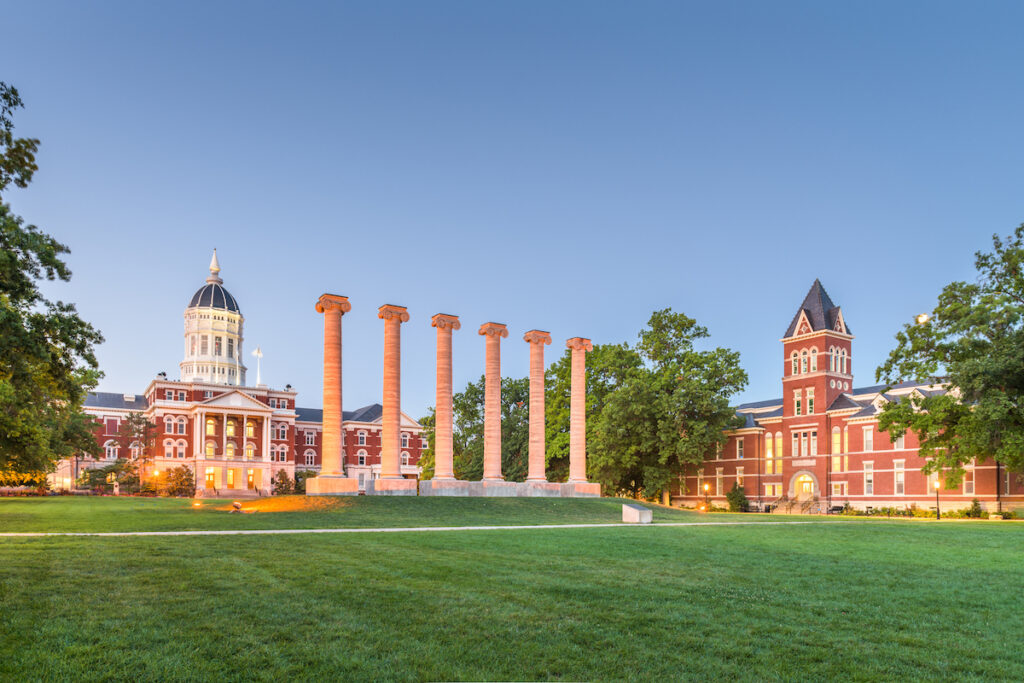 The University of Missouri campus in Columbia.