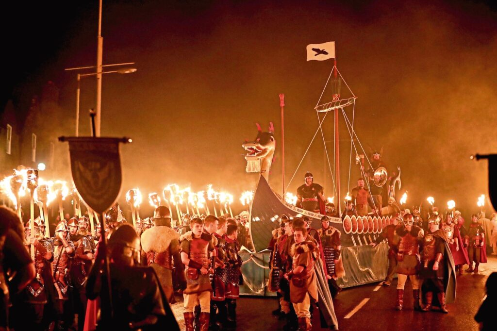 The Up Helly Aa Fire Festival.