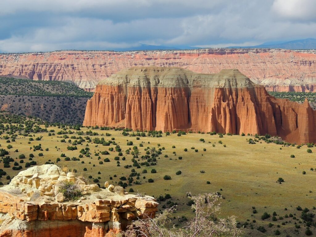 The Upper Cathedral Valley Overlook at Capitol Reef.