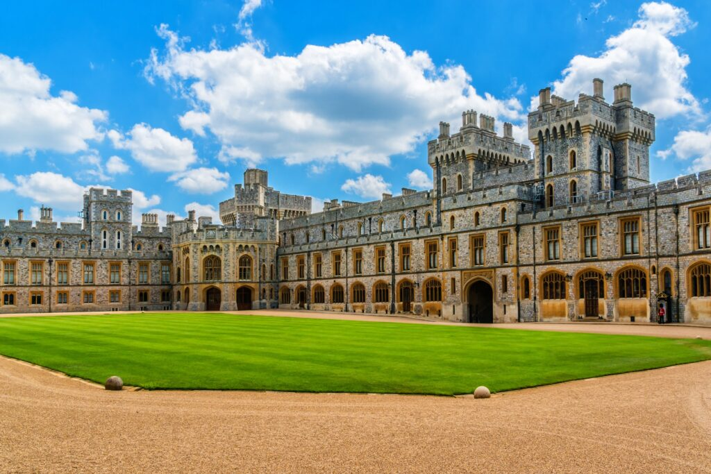 The Upper Ward in Windsor Castle.