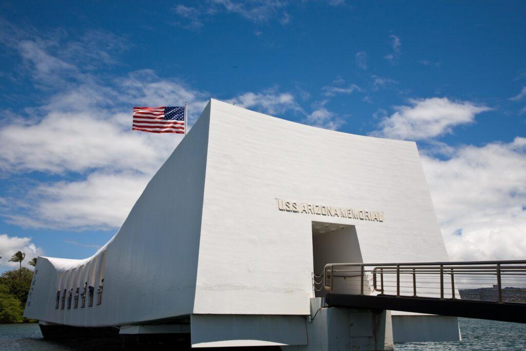 The USS Arizona Memorial in Honolulu.