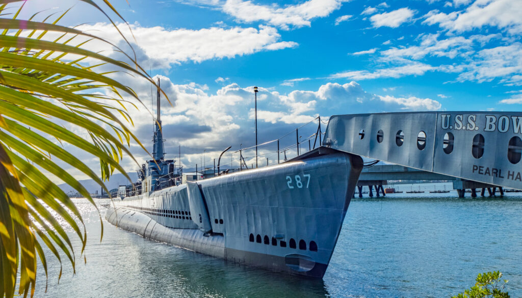 The USS Bowfin submarine at the Pearl Harbor Memorial
