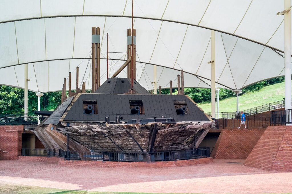 The USS Cairo Gunboat and Museum in Vicksburg.