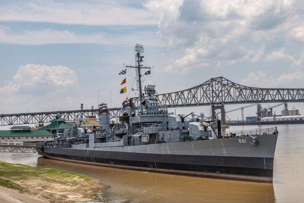 The USS Kidd in Baton Rouge.