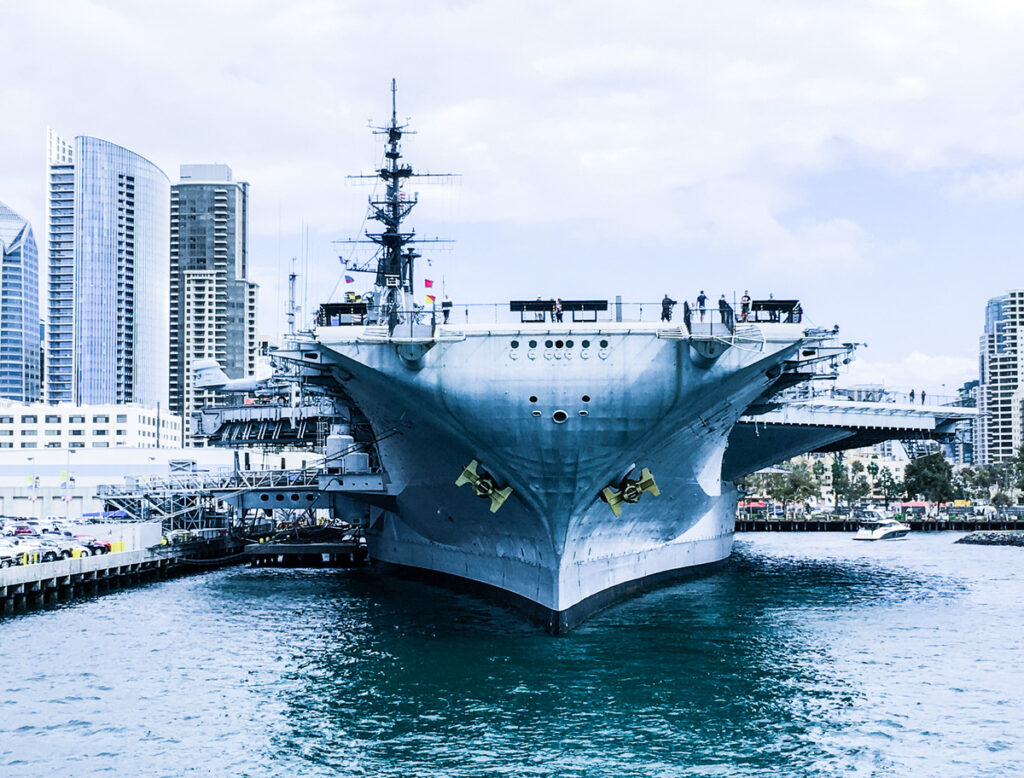 The USS Midway Museum on San Diego Bay.