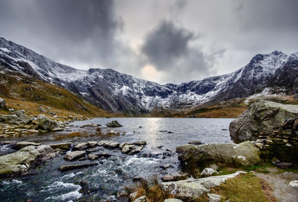 The valley of Cwm Idwal in Snowdonia.