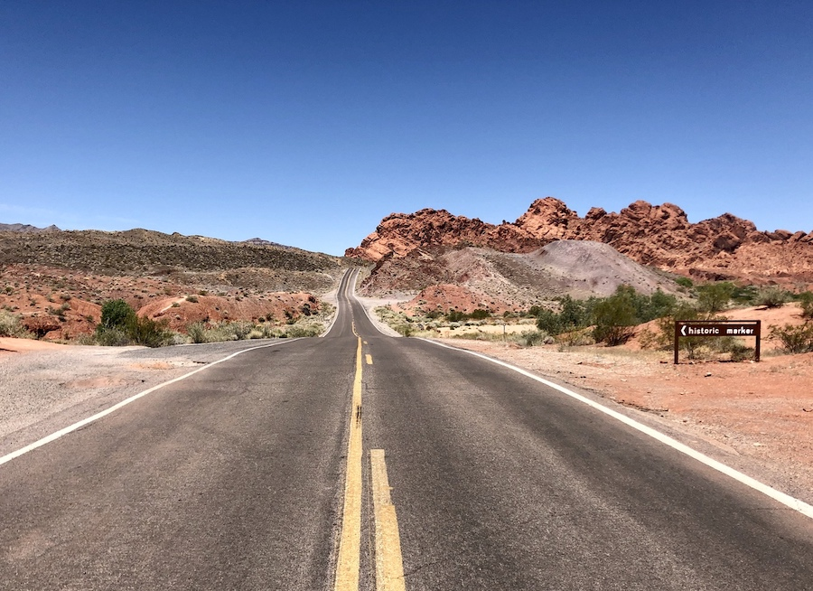 The Valley of Fire Scenic Byway in Utah.