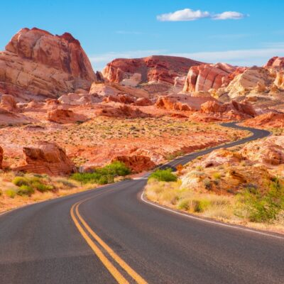 The Valley of Fire Scenic Byway in Nevada.