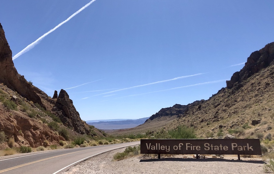 The Valley of Fire State Park in Nevada.