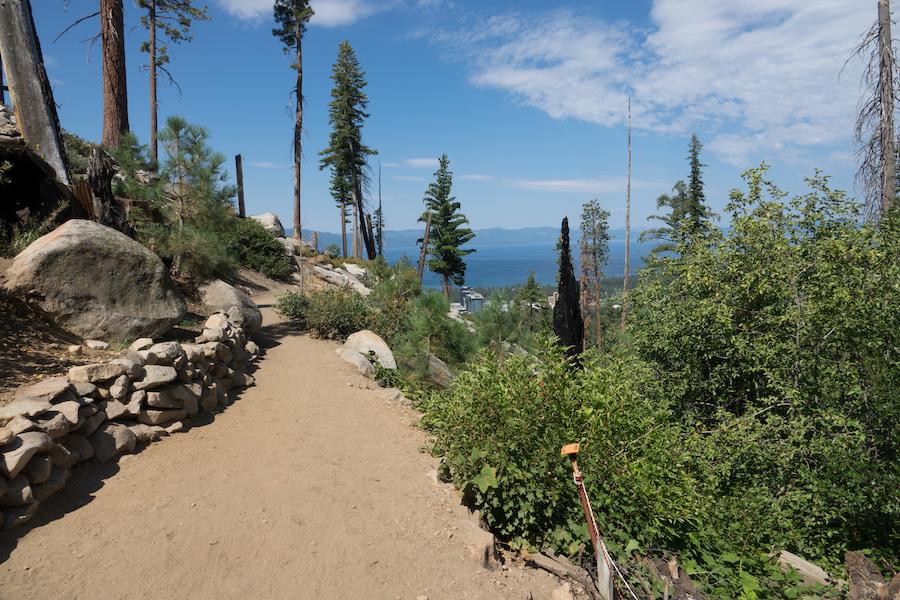 The Van Sickle Rim Trail in Van Sickle Bi-State Park.
