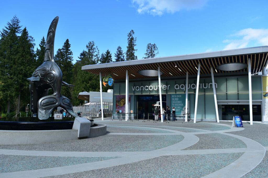 The Vancouver Aquarium in Stanley Park.