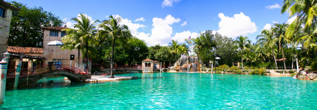 The Venetian Pool in Coral Gables.