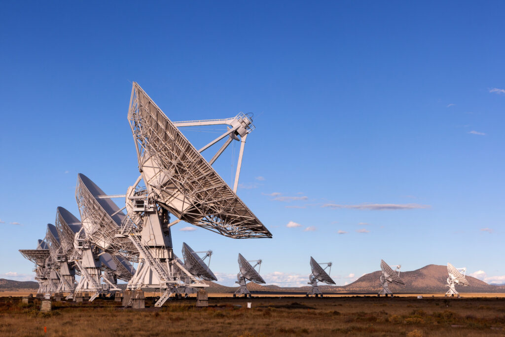 The Very Large Array at the National Radio Astronomy Observatory.