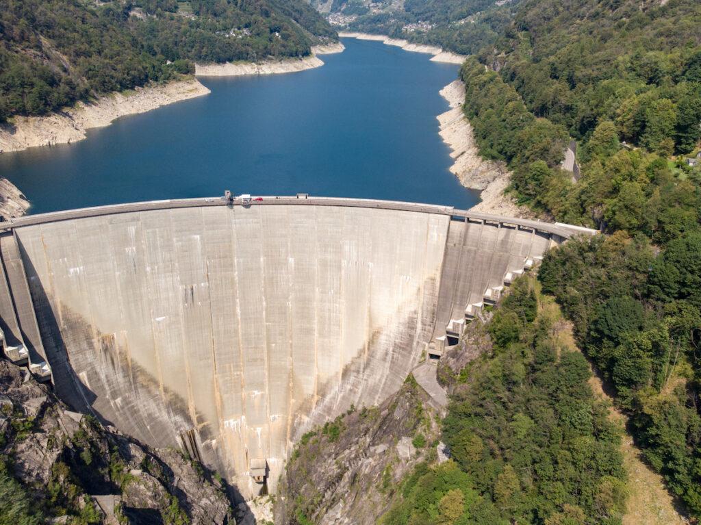 The Verzasca Dam in Switzerland.