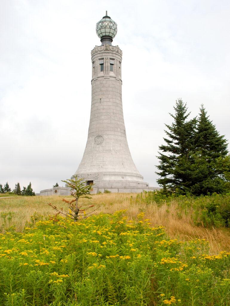 The Veterans War Memorial Tower on Mount Greylock.