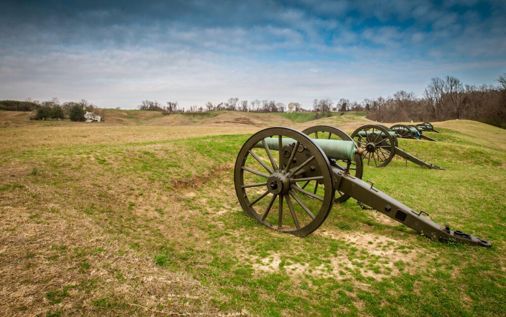 The Vicksburg National Military Park in Mississippi.