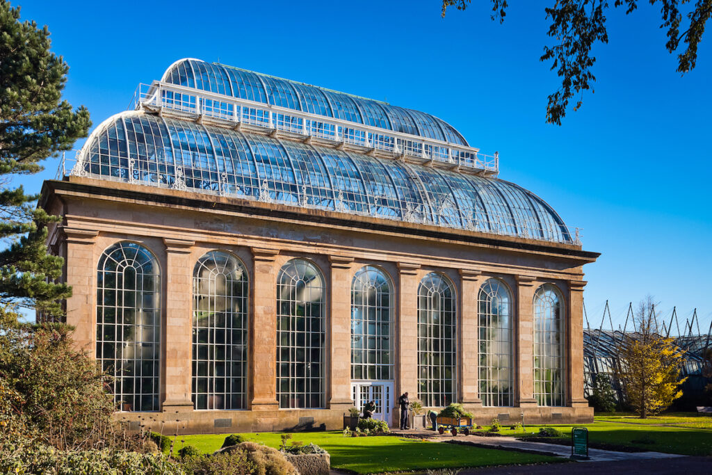 The Victorian Palm House at Edinburgh's Royal Botanic Gardens.