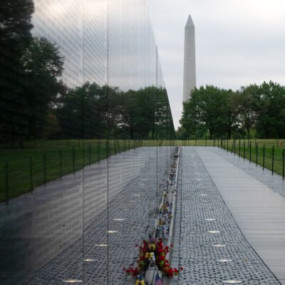 The Vietnam Memorial and Washington Memorial in D.C.