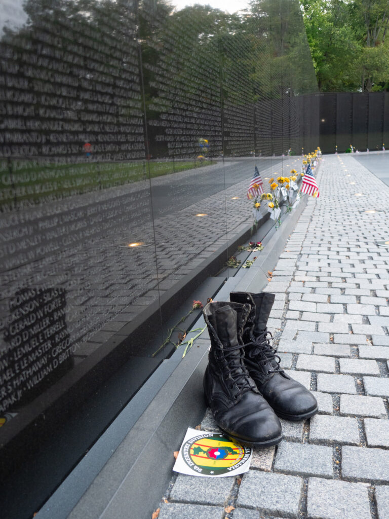 The Vietnam Veterans' Memorial Wall in D.C.