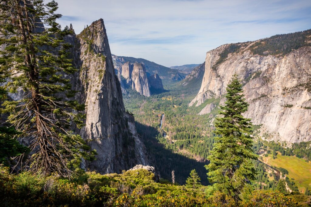 The view from Four-Mile Trail in Yosemite.