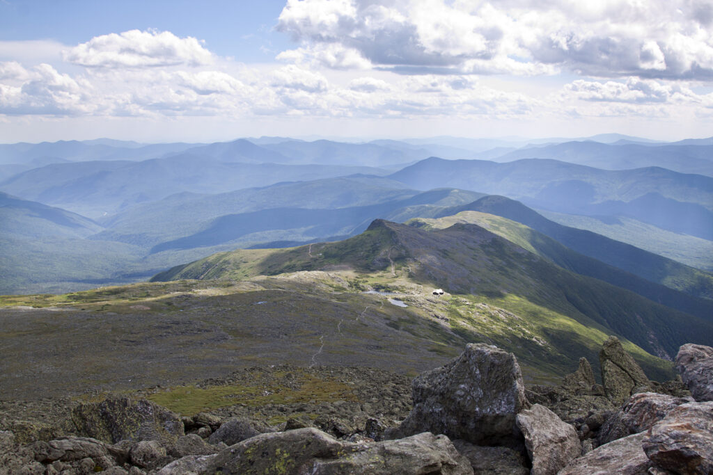 The view from the summit of Mount Washington.