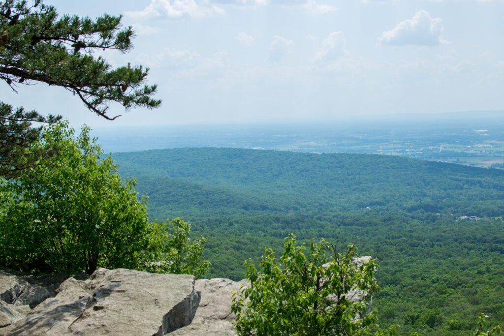 The view from the top of Annapolis Rock Trail in Maryland.