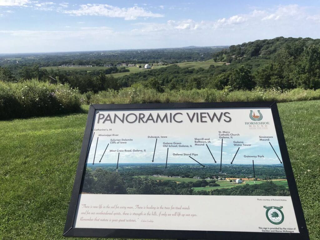 The view from the top of Horseshoe Mound Preserve.