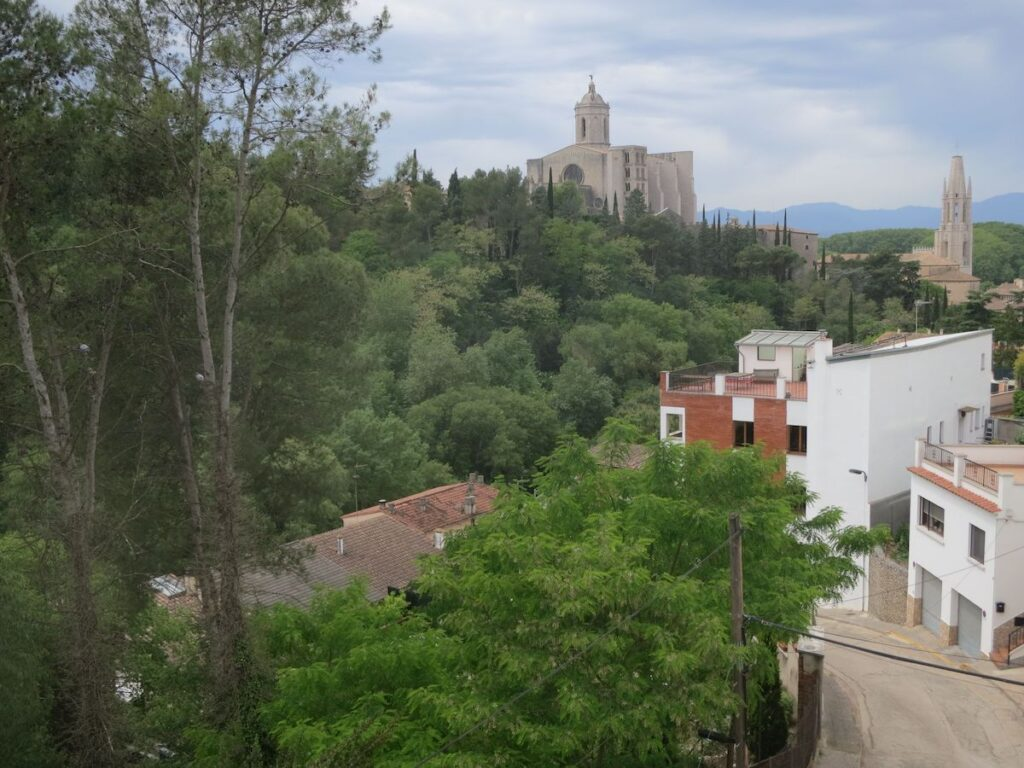 The view from the writer's Airbnb in Girona, Spain.