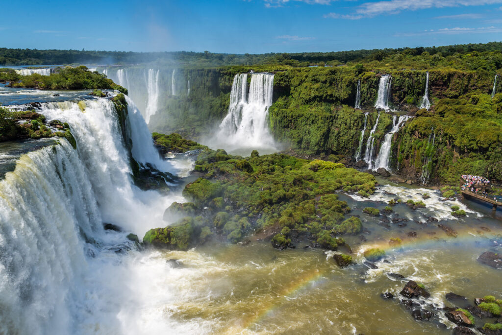 The view of Iguazu Falls from the Brazil side.