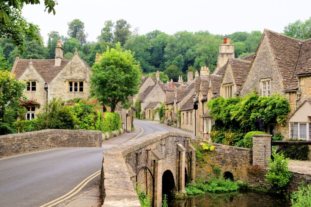 The village of Castle Combe in the Cotswolds.