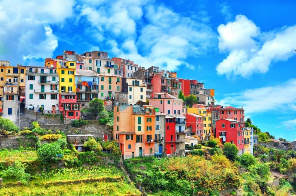 The village of Corniglia in Cinque Terre.