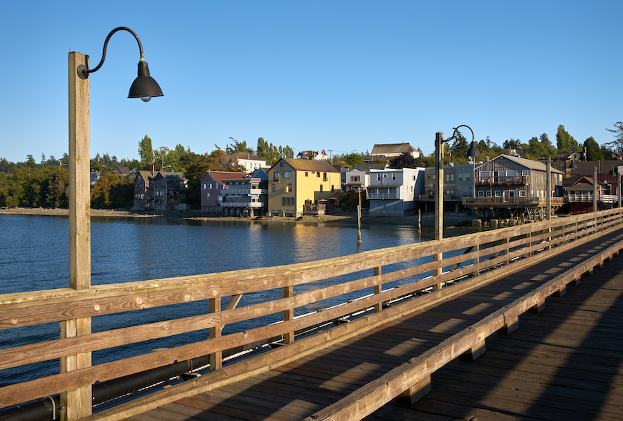The village of Coupeville on Whidbey Island.